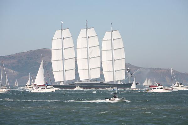 The Maltese Falcon enters the San Francisco Bay - Saturday September 27th, 2008