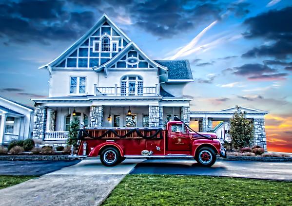 Lawrenceburg Color Guard / Firefighter Funeral