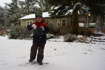 First snow - December '13