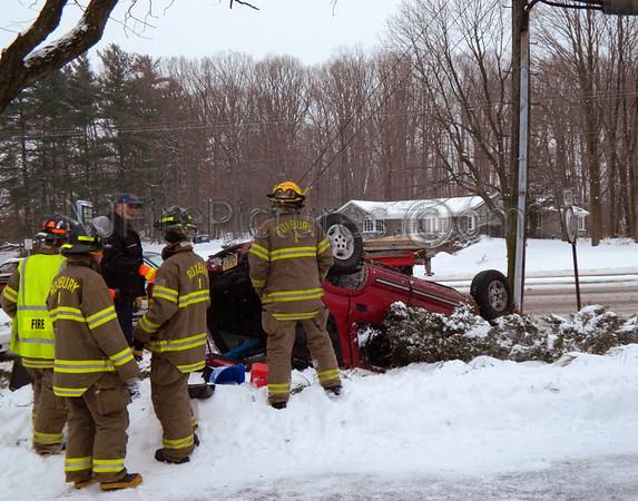 Roxbury NJ Route 10 West & Hillside Ave. Overturned Auto 1/21/12