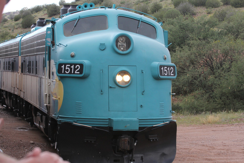 Vintage FP7 locomotive, only 12 in service in North America (Verde Canyon RR has 2)