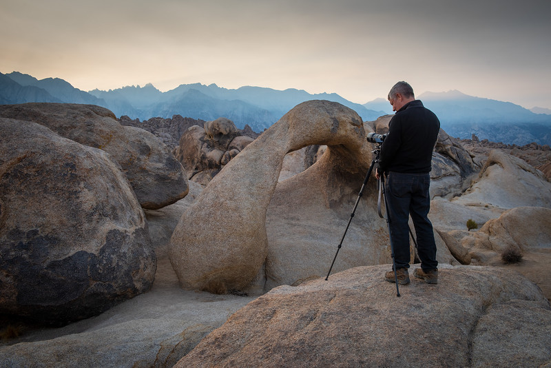 Van Pulley in Alabama Hills during his Death Valley Photo Tour, November 2018.