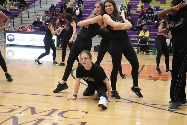 Unified Dancers at Basketball Halftime , Jan. 28, 2020