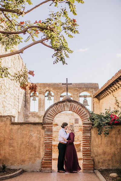 Jill and Brian Engagement | Mission San Juan Capistrano