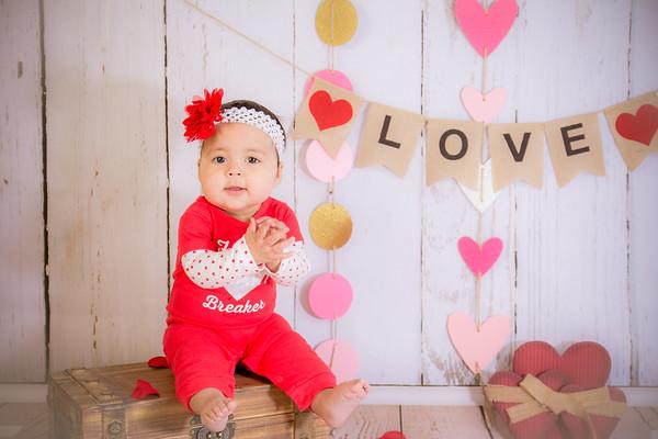 1-Lucy 9 months old Valentine
