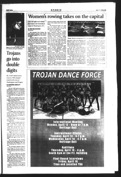 Daily Trojan, Vol. 151, No. 54, April 12, 2004