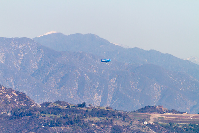 Airship with mountains in background - USA - California