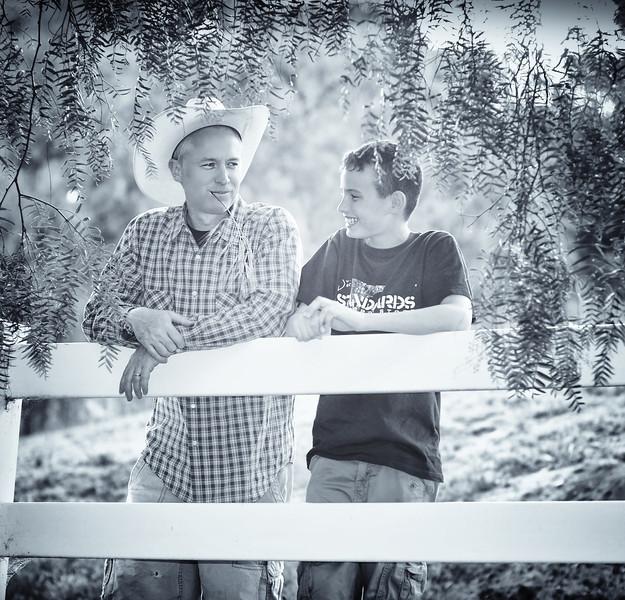 Danny and his son Eoin at El Rancho Patricio