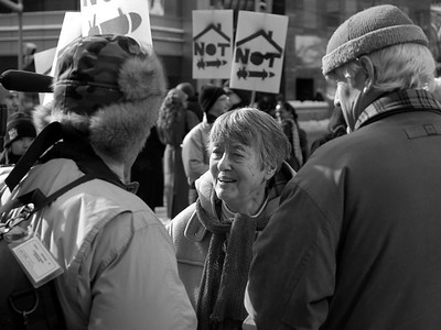 'Housing Not War' press conference & rally