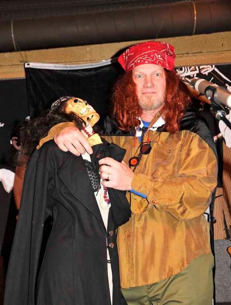 The skeleton at Pirate Night.
