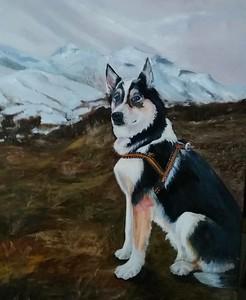 """""""In Pyrenees"""" (oil on canvas) by Nelya Hapchyn"""
