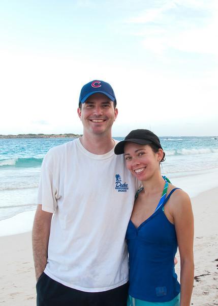 Tina's Birthday on Orient Beach - photo credit unknown