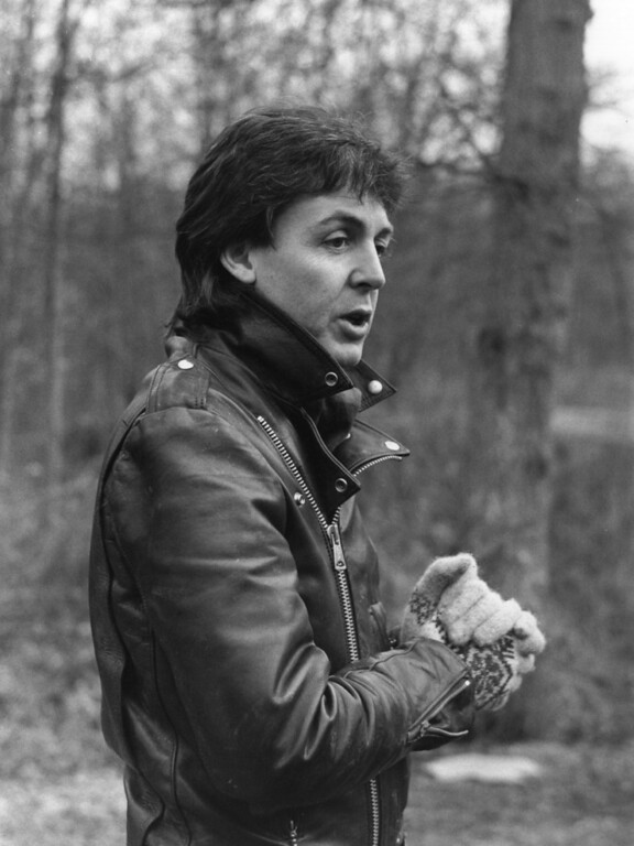 . 28th January 1980:  Former Beatle Paul McCartney on his farm in Sussex.  (Photo by Keystone/Getty Images)