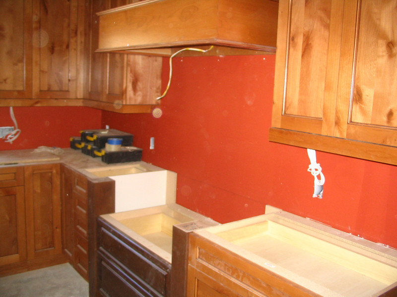 This is where the cooktop will be installed - improperly at first, but then correctly years later (2012).