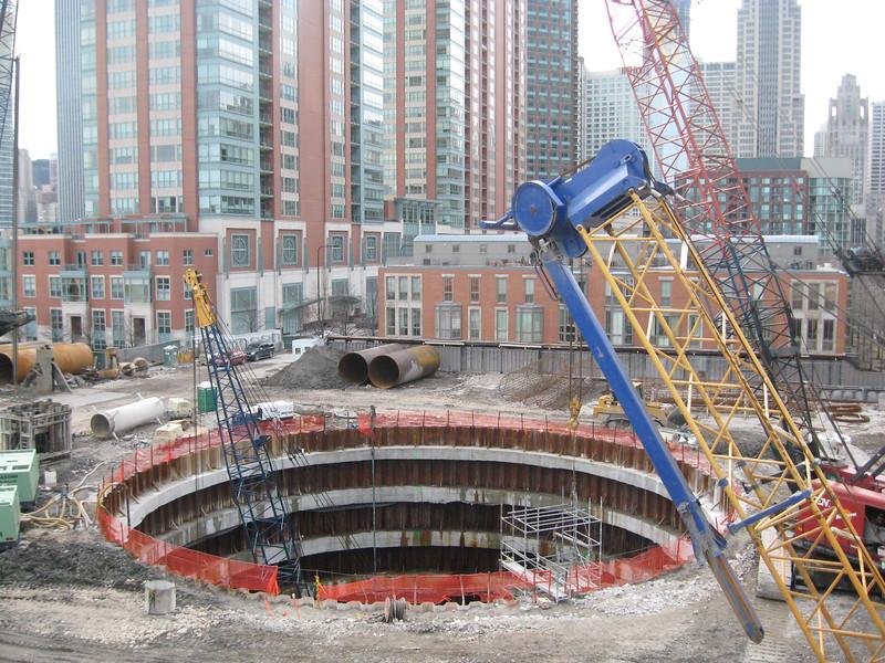 104-foot diameter, 78-feet deep cofferdam