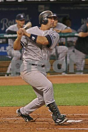 Jorge Posada's 19th home run of the 2007 season - 9/7/2007 - Yankees @ Royals - Kaufmann Stadium - Kansas City, MO