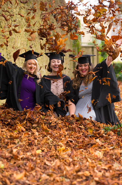02/11/2017. Waterford Institute of Technology Conferring are Laura Dee, Dungarvan and Orla Hayes, Waterford and Lynn Evans, Waterford who graduated Bachelor of Arts Honours in Marketing. Picture: Patrick Browne.