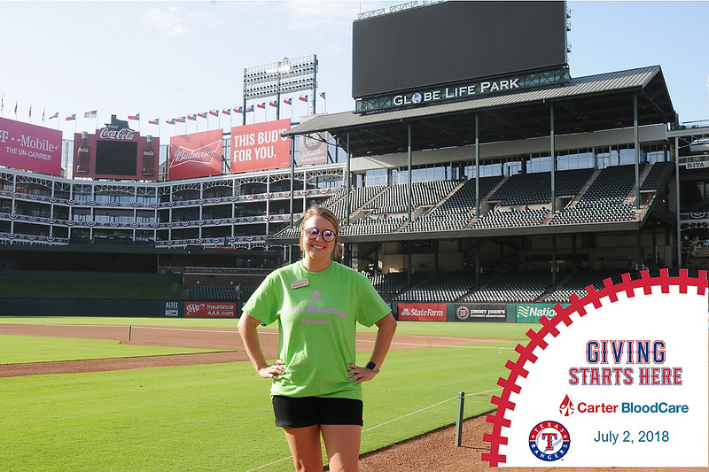 Carter Bloodcare and Texas Rangers Blood Drive