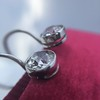 3.07ctw Double Old European Cut Dangle Earrings 16