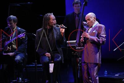NEW YORK, NY - SEPTEMBER 24:  The 2011 Jazz At Lincoln Center Opening Night Concert featuring Jon Hendricks & Jimmy Heath at the Rose Theater, Jazz at Lincoln Center on September 24, 2011 in New York City.
