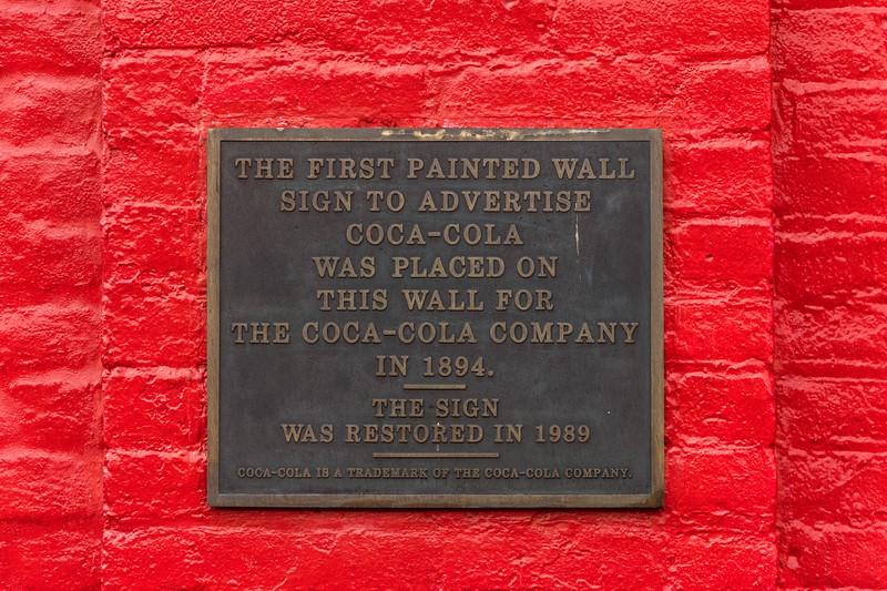 GA, Cartersville - First Coke Sign Plaque