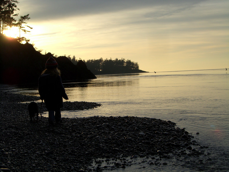 Deception Pass - silhouettes at sunset