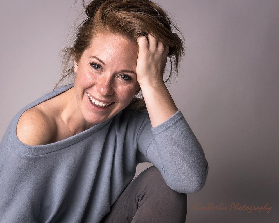 Alisha F. in loose casual sweater
