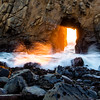 Keyhole sunset at Pheiffer Beach