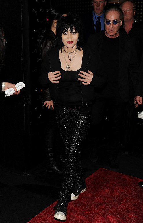 . Musician Joan Jett attends A Night of New York Class gala benefit to help ban New York City carriage horses on Tuesday, Oct. 23, 2012 in New York. (Photo by Evan Agostini/Invision/AP)