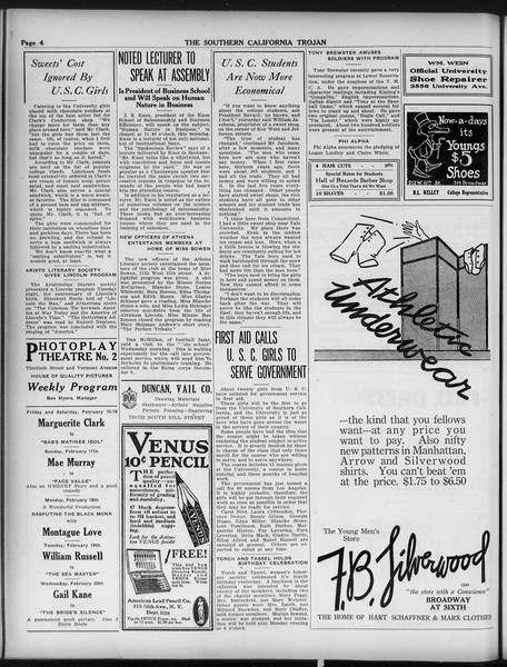 The Southern California Trojan, Vol. 9, No. 27, February 15, 1918