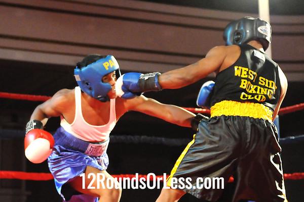 Bout #3  Devon  Johnson, Al Jones, Cleve. -vs- Al Pugh, West Side BC, Cleve 152 lbs Novice