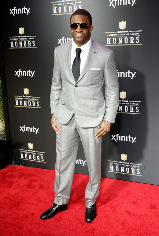 . Randall Cobb of the Green Bay Packers arrives at the 2nd Annual NFL Honors on Saturday, Feb. 2, 2013 in New Orleans. (Photo by AJ Mast/Invision/AP)