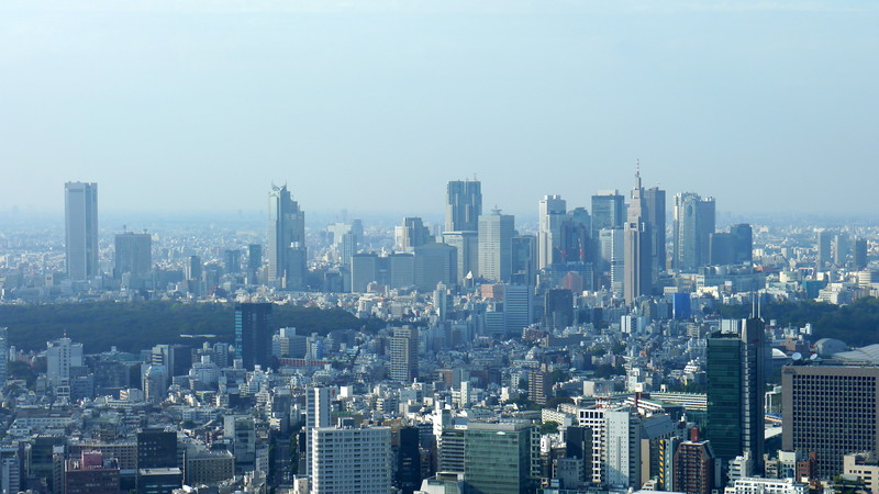 Shinjuku viewed from the top of the Mori Tower
