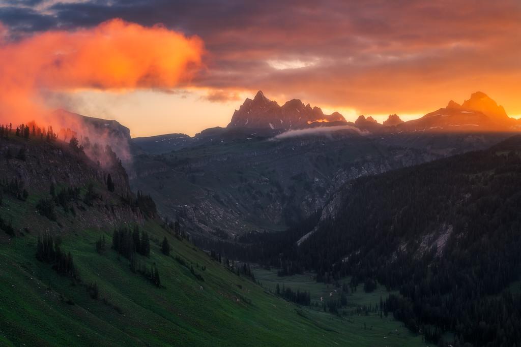 Crest Trail Fox Creek Pass Death Canyon Grand Teton National Park