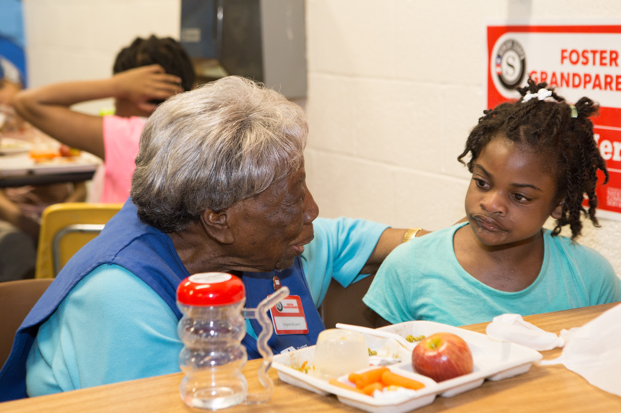 Senior Corps Foster Grandparent, Grandma Virginia serves at a school in Washington, D.C. Corporation for National and Community Service Photo.