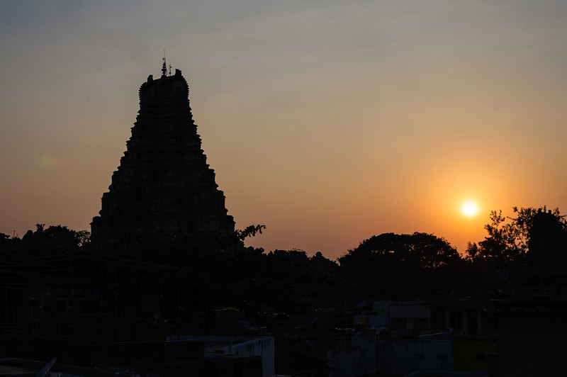 Virupaksha Temple in Hampi Town