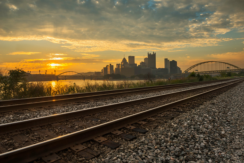 """On the Right Track"" - Pittsburgh, South Shore Shore   Recommended Print sizes*:  4x6  