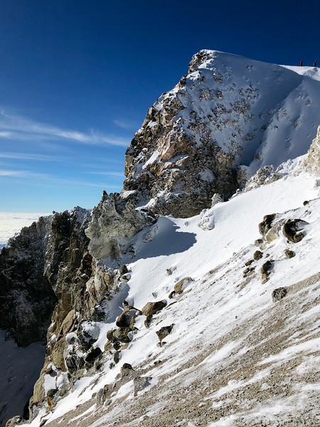 Summit crater