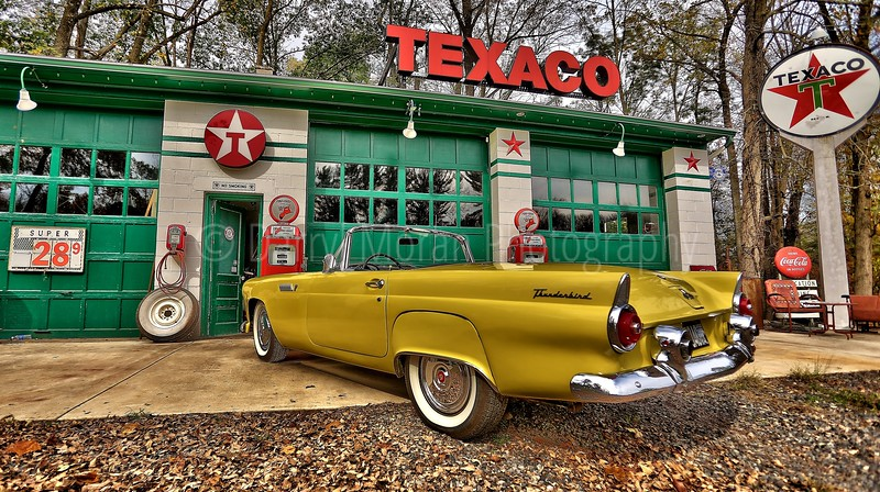 Vintage Texaco, 1956 T-bird and Truck (24).jpg
