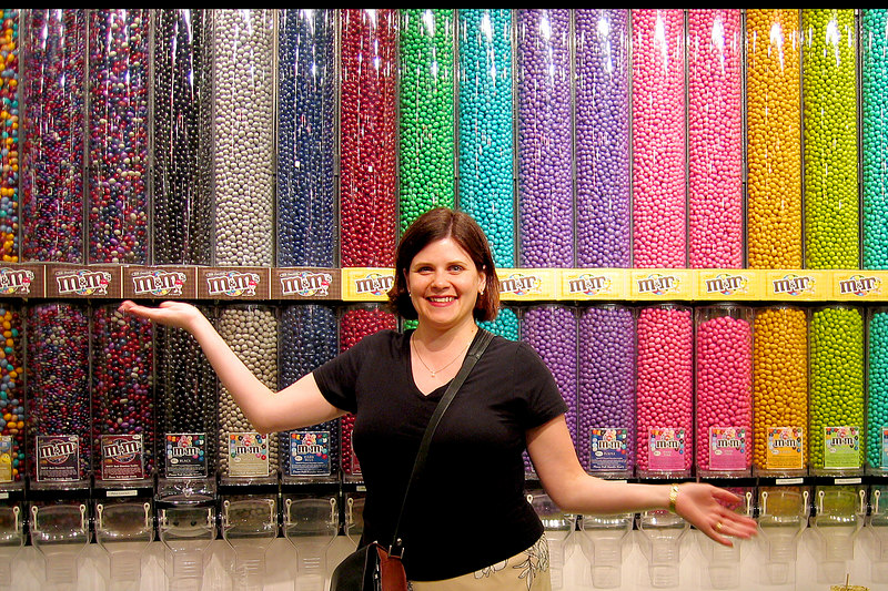 We saw every M&M product available at the M&M store in Showcase mall.