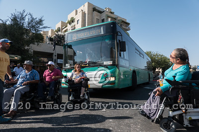 20190731 Handicapped Demonstrations in Jerusalem