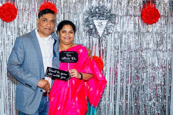 Vasu and Shanti 25th wedding anniversary