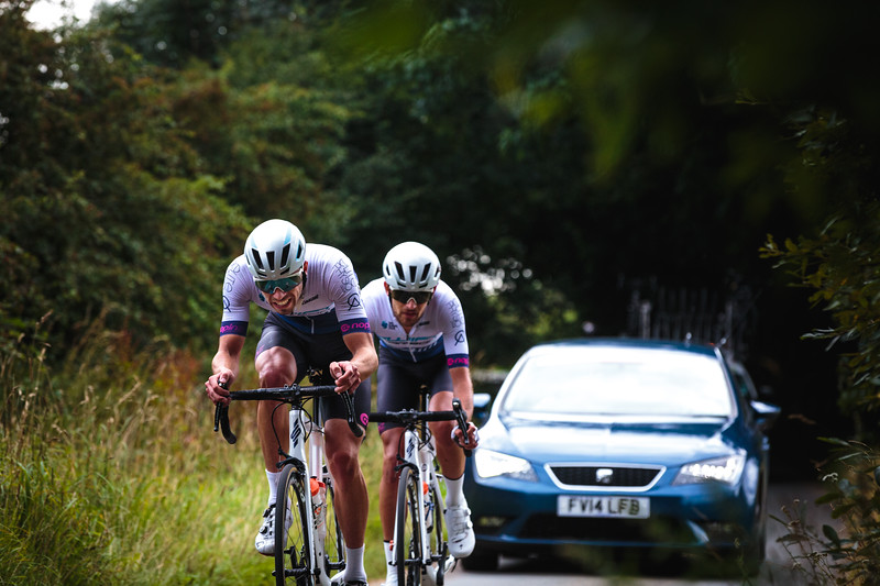 James Shaw and Jacob Scott Breakaway for Carbon Swift Pro Cycling