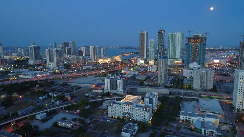 Aerial American cities Miami 4k