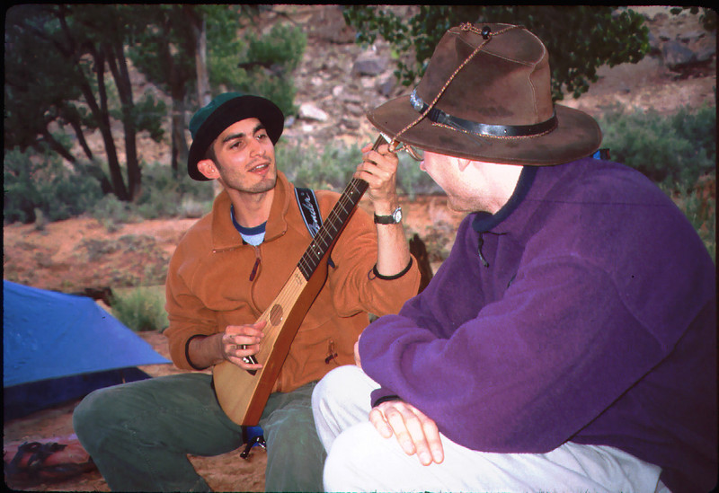 Joel meets Everett Ruess, who wandered into our camp! .. http://www.everettruess.net/about.html [Slides are in chronological order, though often with large gaps.]