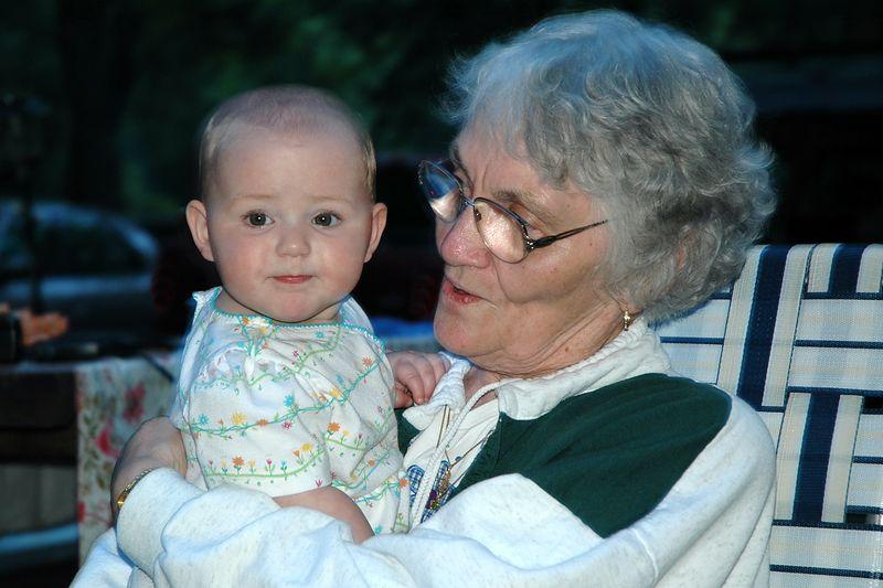 Grandma & Lily.