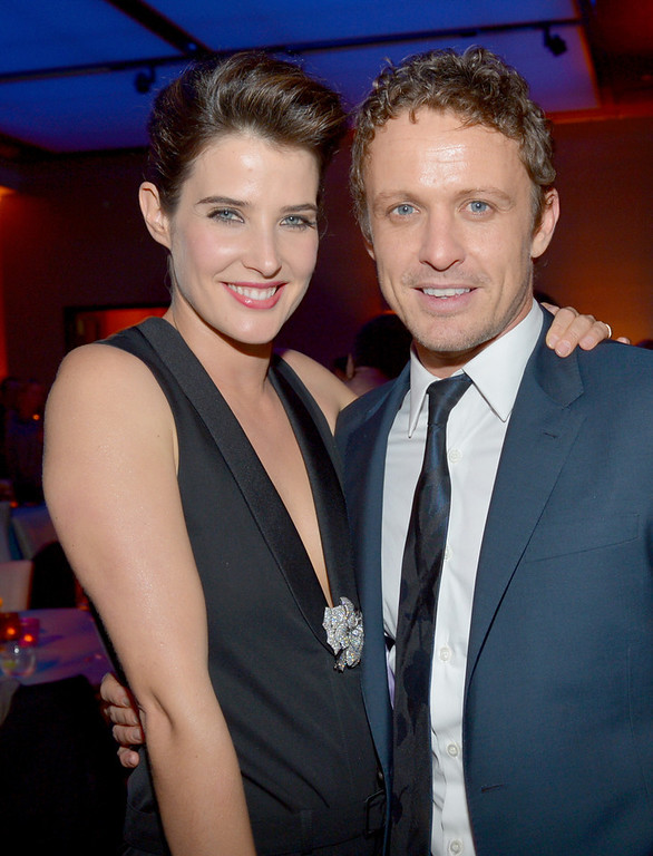 """. Actress Cobie Smulders (L) and actor David Lyons attend the premiere of Relativity Media\'s \""""Safe Haven\"""" after party at The Terrace At Hollywood & Highland on February 5, 2013 in Hollywood, California.  (Photo by Alberto E. Rodriguez/Getty Images for Relativity Media)"""