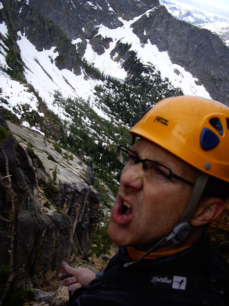 Self portrait, top of pitch 1.