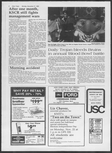 Daily Trojan, Vol. 94, No. 54, November 21, 1983