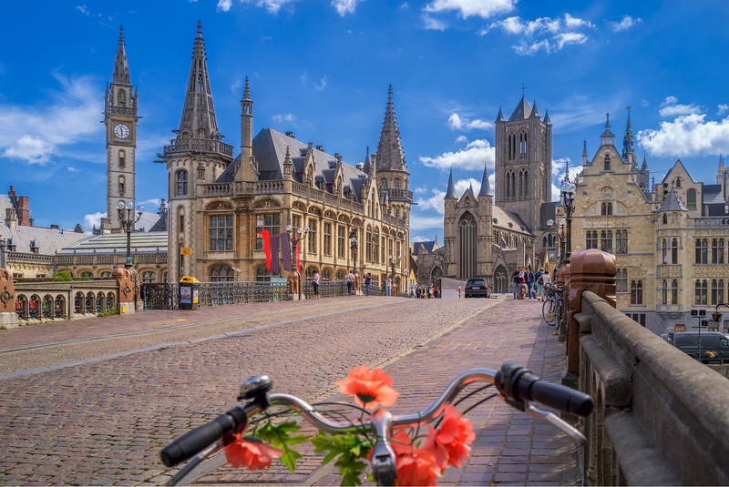 Street leading to the Stadhuis in Ghent
